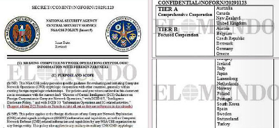 Documento «Sharing computer network operations cryptologic information with foreign partners». El Mundo.